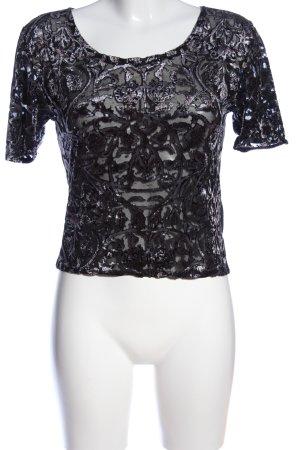 viania Kurzarm-Bluse schwarz Elegant