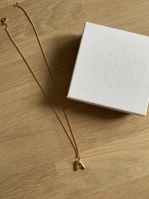 Vibe Harslof Złoty łańcuch piaskowy brąz Tkanina z mieszanych włókien