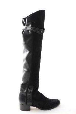 Vibram Buty nad kolano czarny W stylu biznesowym
