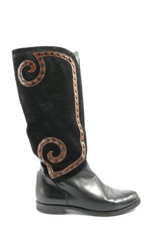 Vibram Wide Calf Boots black-brown casual look
