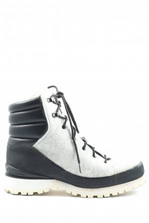 The North Face Winter Boots black-white casual look