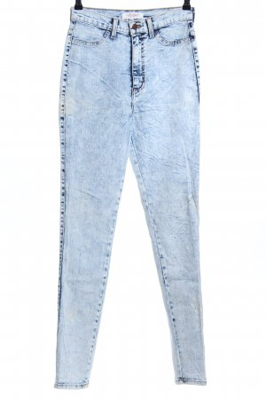 Hoge taille jeans blauw casual uitstraling