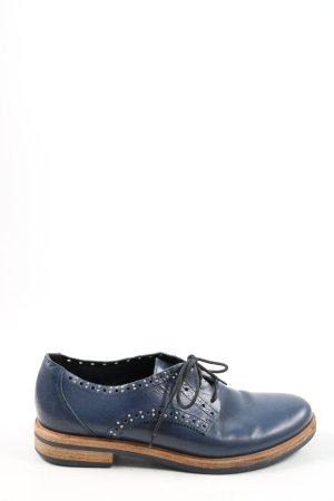 vic Scarpa Derby blu stile casual