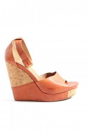vic Wedge Sandals nude-light orange casual look