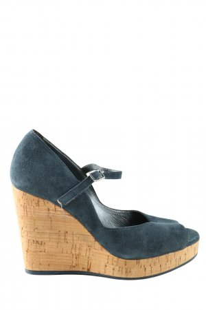 vic Keil-Pumps blau Casual-Look