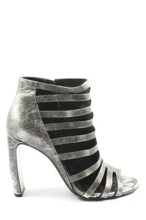 Vic Matie High Heel Sandaletten schwarz-silberfarben Casual-Look
