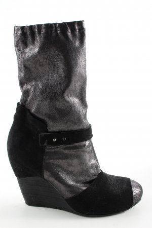Vic Matie Keil-Stiefeletten schwarz Casual-Look