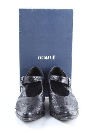 Vic Matie Escarpins Mary Jane noir style décontracté