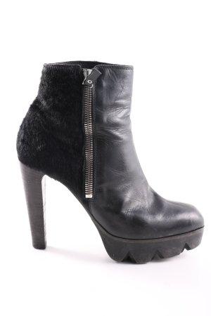 Vic Matie Plateau-Stiefeletten schwarz Casual-Look