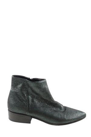 Vic Matie Reißverschluss-Stiefeletten schwarz-silberfarben Casual-Look