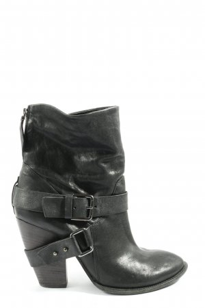 Vic Matie Reißverschluss-Stiefeletten schwarz Casual-Look