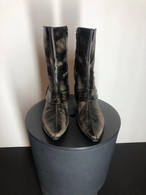 Vic Matie Reissverschluss-Stiefeletten, schwarzbraun/beige meliert