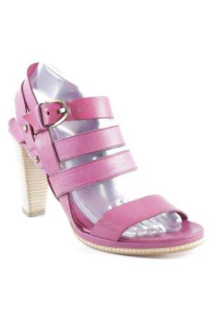 Vic Matie Riemchen-Sandaletten purpur klassischer Stil