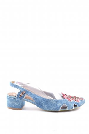 Vic Matie Slingback Pumps blue casual look