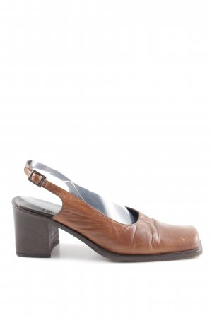 Vic Matie Slingback-Pumps braun Business-Look