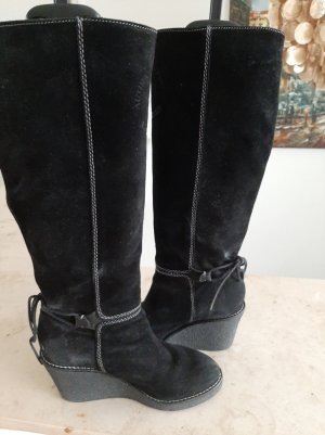 Vic Matie Platform Boots black leather