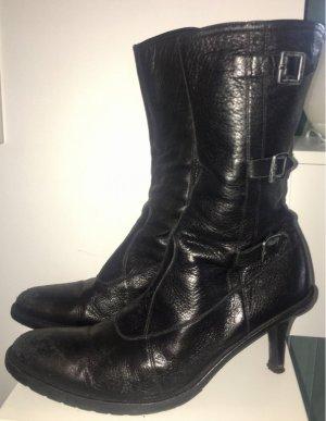 Vic Matie Stiefelette, schwarzes Leder, Größe 39
