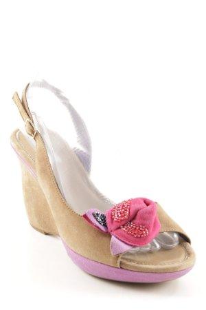 Vic Matie Wedges Sandaletten mehrfarbig Zierbesatz