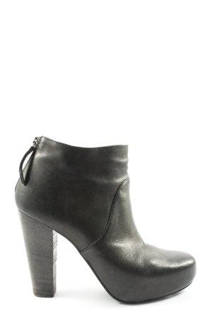 vic Reißverschluss-Stiefeletten schwarz Casual-Look