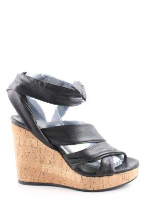 vic Wedges Sandaletten schwarz-nude Casual-Look