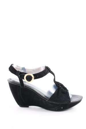 vic Wedges Sandaletten schwarz Casual-Look