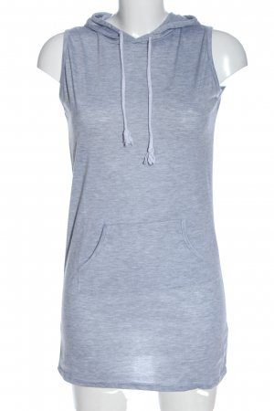 Vicabo Hooded Shirt blue flecked casual look