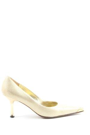 Vicari High Heels goldfarben Allover-Druck extravaganter Stil