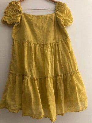VICBEE Sommerkleid, Kurzarm, Gelb, S