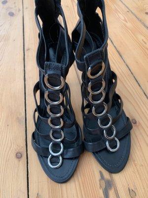 Vicenza Echtleder riemchen Sandalette Gr 38 schwarz