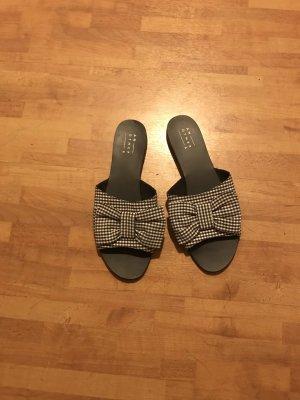 Vichy Pantolette mit Schleife