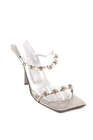 Vicini High Heel Sandaletten silberfarben Elegant
