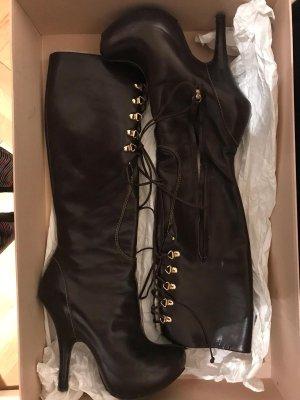 Vicini High Heel Boots dark brown leather