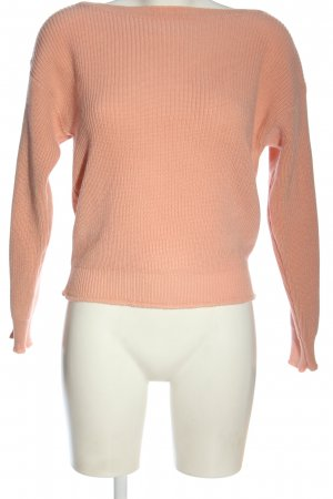 Vicolo Crochet Sweater nude casual look