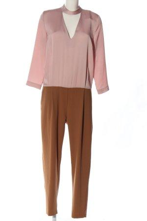 Vicolo Langer Jumpsuit pink-bronzefarben Elegant