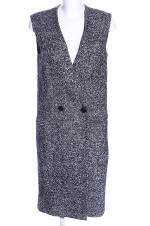 Vicolo Cardigan lungo smanicato grigio chiaro-nero modello web