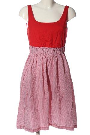 Vicolo Minikleid rot-weiß Streifenmuster Casual-Look