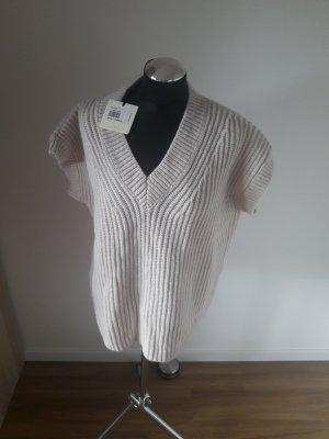 Vicolo Sweter bez rękawów z cienkiej dzianiny jasnobeżowy