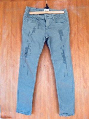 Vicolo Rip Jeans grau Stretch wie NEU