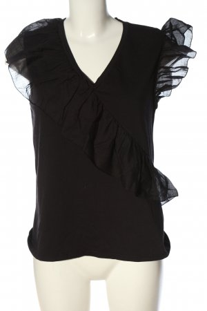 Vicolo Rüschen-Bluse schwarz Elegant