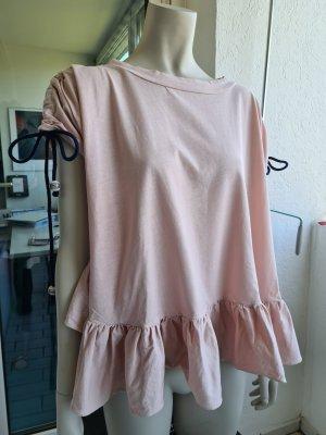 Vicolo Camicia oversize rosa antico-rosa pallido