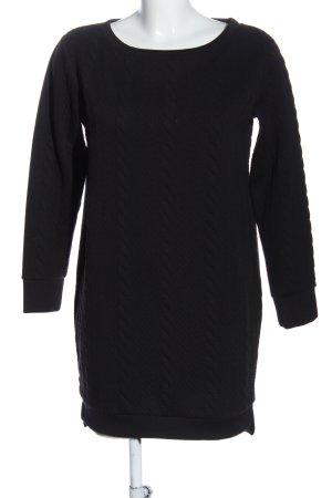 Vicolo Vestido tipo jersey negro look casual