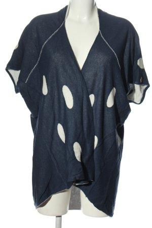 Vicolo Trivelli Ponczo niebieski-biały Wzór w kropki W stylu casual