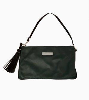 VICOSTA Schöne Clutch / Handtasche aus Leder in dunkelgrüner Farbe.