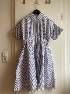Victoria Beckham Sukienka o kroju litery A biały-niebieski