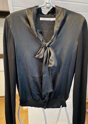 H&M Blusa con lazo negro