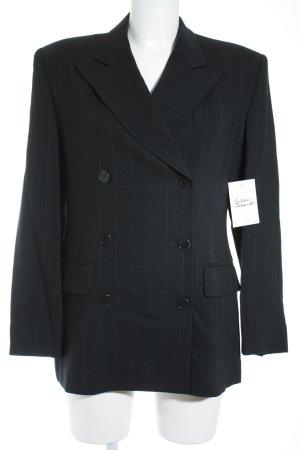 Victor Victoria Krijtstreeppak zwart-donkergeel krijtstreep zakelijke stijl