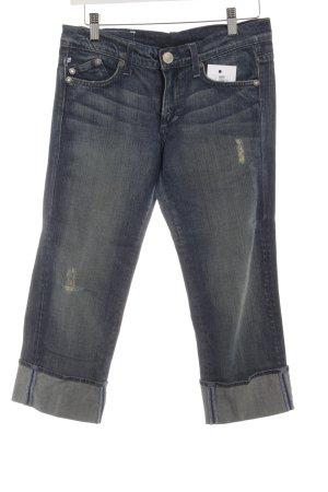Victoria Beckham Jeans a 3/4 grigio ardesia Stampa a tema stile casual