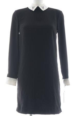Victoria Beckham Blusenkleid wollweiß-schwarz Motivdruck Business-Look