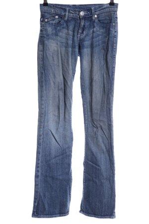 Victoria Beckham Boot Cut Jeans graublau Logo-Applikation