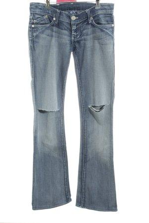 Victoria Beckham Boot Cut Jeans stahlblau Casual-Look